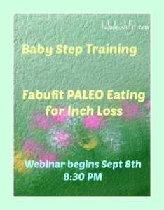 Babystep Training Paleo EatingPM