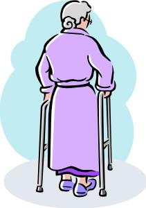 lady with walker