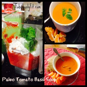 Tomato Basil Soup is just about out of this world on a cool day