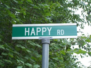 happyroad sign