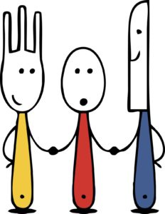knife_fork_spoon_family_cartoon_t-shirt_pictures