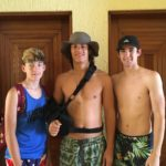 The bigger grandsons who stayed in our villa