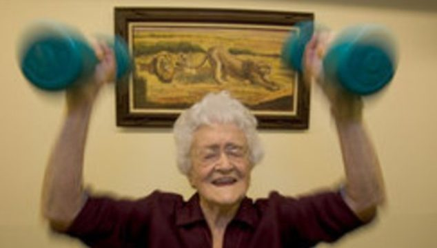 Marge Jetton's Exercise Routine at 100