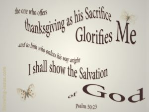 offer the sacrifice of Thanksgiving