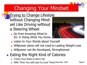 Change your set point by changing your mindset first