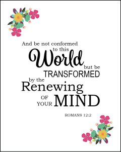 You Can Renew Your Mind